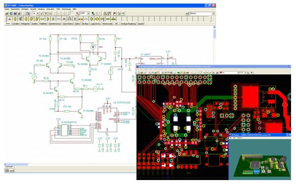 Designsoft-TINA-Schaltungssimulation Schaltplan