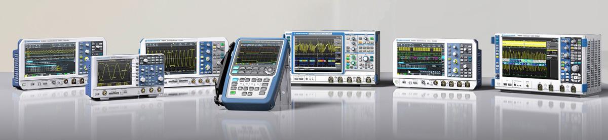 Rohde-Schwarz Oszilloskope-Produktspektrum: z.B. RTB2000, RTM3000, RTC1000, Scope Rider